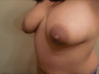 tit bouncing 3 clips nipple clamps lactating tits bounce
