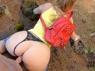 Breast sucking during sex videos memorable outdoor big ass creampie!, outdoors forest mountains tourist big ass big booty