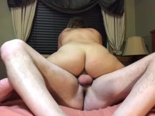 Juicy Assed MILF Sucks and Rides Cock for Creampie