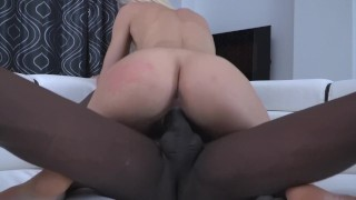 Extreme dilatation of Kitana Lure's pussy by a big black dick Surprise girl