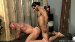 PrideStudios Daddy Sean Duran Analized By Hunk Ali Liam HOT