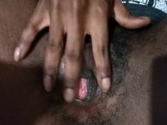 Wet pussy, fat Ebony pussy play