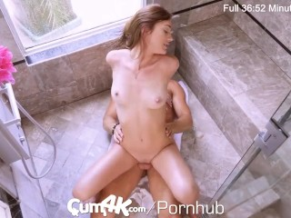 CUM4K Multiple Shower Creampies From Shower Stalker