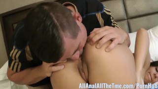 Brand New Teen Mia Pearl Gets Ass Gaped and Licked! Young ruined