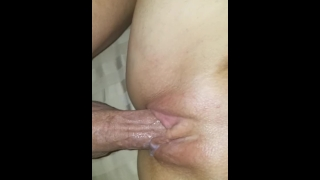 HUGE CREAMPIE my neighbor CUMS IN MY DIRTY HOTWIFE pussy while husband@work Hardcore tits