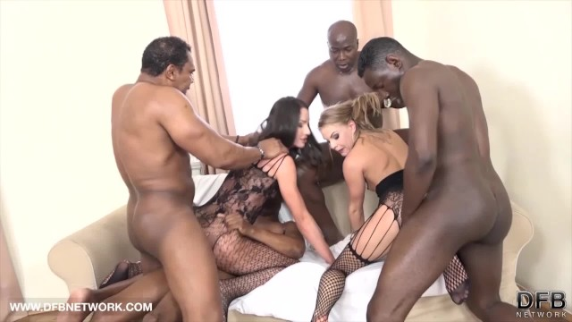 Hardcore triple penetration Babes get triple anal penetration and pussy fucked by 4 black men