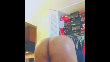 Oiled up fat ass