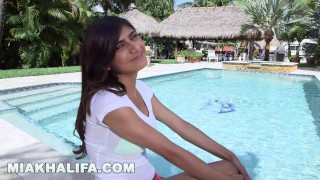MIA KHALIFA - In A Bikini, Getting Interviewed, and Having Sex... Fuck Yeah Deep black
