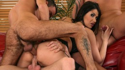 Brutalclips - Hot Slut Eva Karera Gangbanged By Three Guys