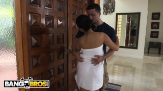 BANGBROS - Ada Sanchez Has Threesome With Her Boyfriend And Stepmom Diamond Down out