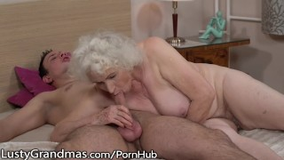Uses granny dick ride to box hairy young lustygrandmas sensual sucking grandma