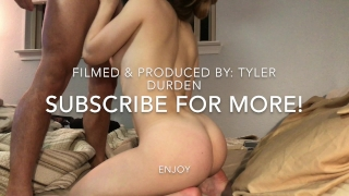 18 y/o Stephanie Vixen fucks her hot BF Tyler Durden Butt up