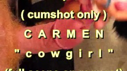 """B.B.B. preview: CARMEN """"Cowgirl"""" (cumshot only) with SloMo"""