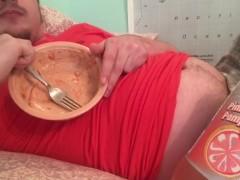 Belly Stuffing! Burping & Gaining Watching Anime Again :P Free Fetish Clip