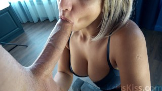 juicy blonde blowjob