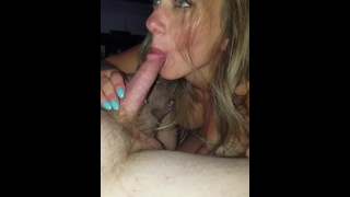 SWALLOWED A STRANGER-lucky guy cums prematurely I lapped it up like doggy;) Cock job