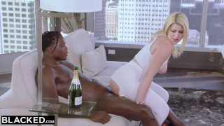 BLACKED 18 years old blonde with massive ass is black cock ONLY Bbc black