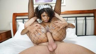 TeamSkeet - Hot Latina Fucks in Silk Black Maid Outfit