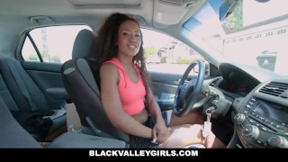 BlackValleyGirls - She Masturbates at the Car Wash Big 12