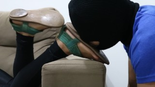 Goddess JMACC - Lick all dirty and sweat from my old sandal (Trailer)