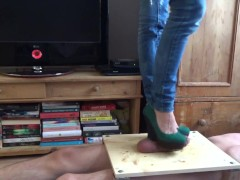 cockcrush trample footjob with wedge - CBT Trample