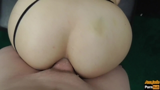 Teen StepSister Sucks and Rides Makes Him Cum Twice With Pussy And Anal Stepbrother sister