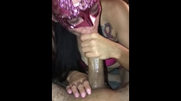 SNOWBUNNY GIVES SLOPPY DEEPTHROAT TO  BF WITH CUM EXPLOSION **UNCUT**