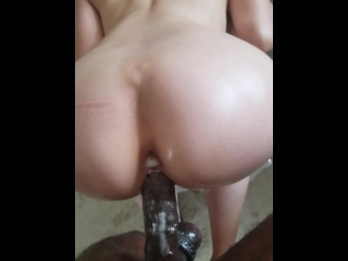 Becky - Cum Covered Hard BBC is Cock Slave to White Girl Pussy - Throbbing
