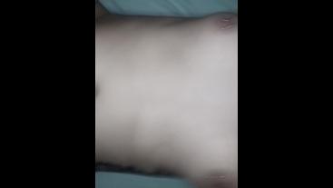 Sexy couple enjoys shaking orgasm and creampie