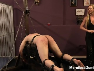 She Teases His Dick Miss Suzannas Favorite Number - Painful Bastinado Session With Goddess, Babe Blonde