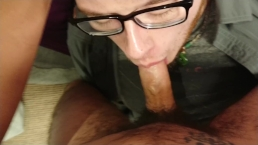 Sucking Down His Load While I Finish Myself With A Fleshlight