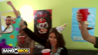 Friends party and diamond with invasion bangbros surprise kitty dorm ass party