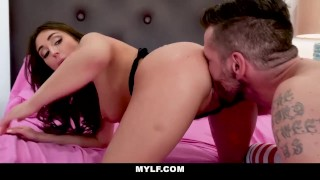 With brunette pussy husband pocket mylf fucks curvy boobs round