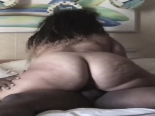 Thick pawg teased the dick before riding it.