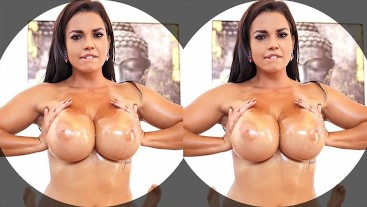 Busty big ass courtesan Chloé rides your rock-hard dick in POV VR special