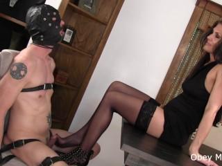 60s sex videos evil edging nyloned feet tease, feet nylon edging mistress evil