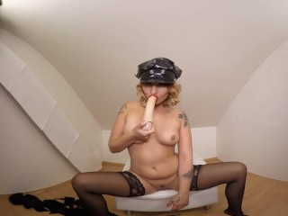 099 - Young Kathy Hill masturbate with dildo - 3DVR180 SBS
