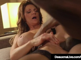 cougar deauxma fucked in her mature muff by a big black cock