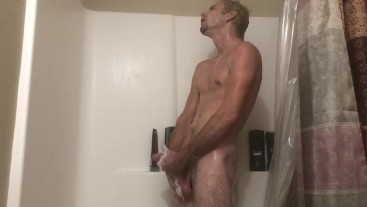 Shower fun cum and keep going