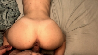 I can't stop cumming on his dick so he cums in me Cock cowgirl
