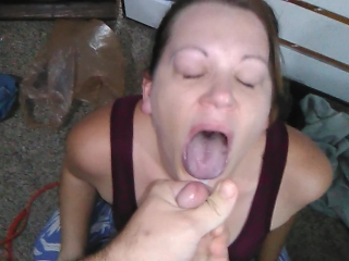 amazing blowjob with deepthroat crying and facial cumshot