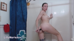 fucking my butthole in the shower