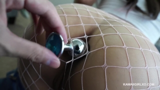 Anal Riding and Fishnets - Ass Fucked Good Tits natural