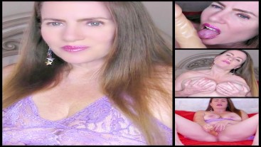 Sexy Light Purple Lingerie Masturbation and JOI