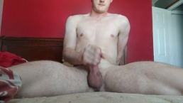 Jerking my THICK cock for a thick cumshot