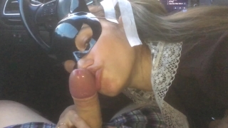 I drove a schoolgirl, she thanked me with her mouth and pussy - MaryVincXXX Cum spanked