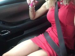 Uber  driver meet diosaera and fingering her tight pussy