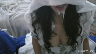 Screen Capture of Video Titled: White Goddess Covered In Massive Load - Confessor