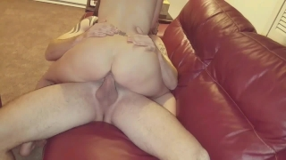 1ST DATE!!AIMY GETS HUGE COCK TO CUM INSIDE HER NO CONDOM CREAMPIE HOTWIFE Blowjob inside