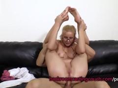 Cute Blonde in Glasses Anal and Cum Facial